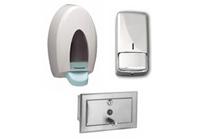 Zabudovateľné hygienické dávkovače na tekuté mydlo