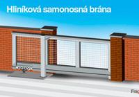 Stavebnica samonosná brána z hliníkových profilov